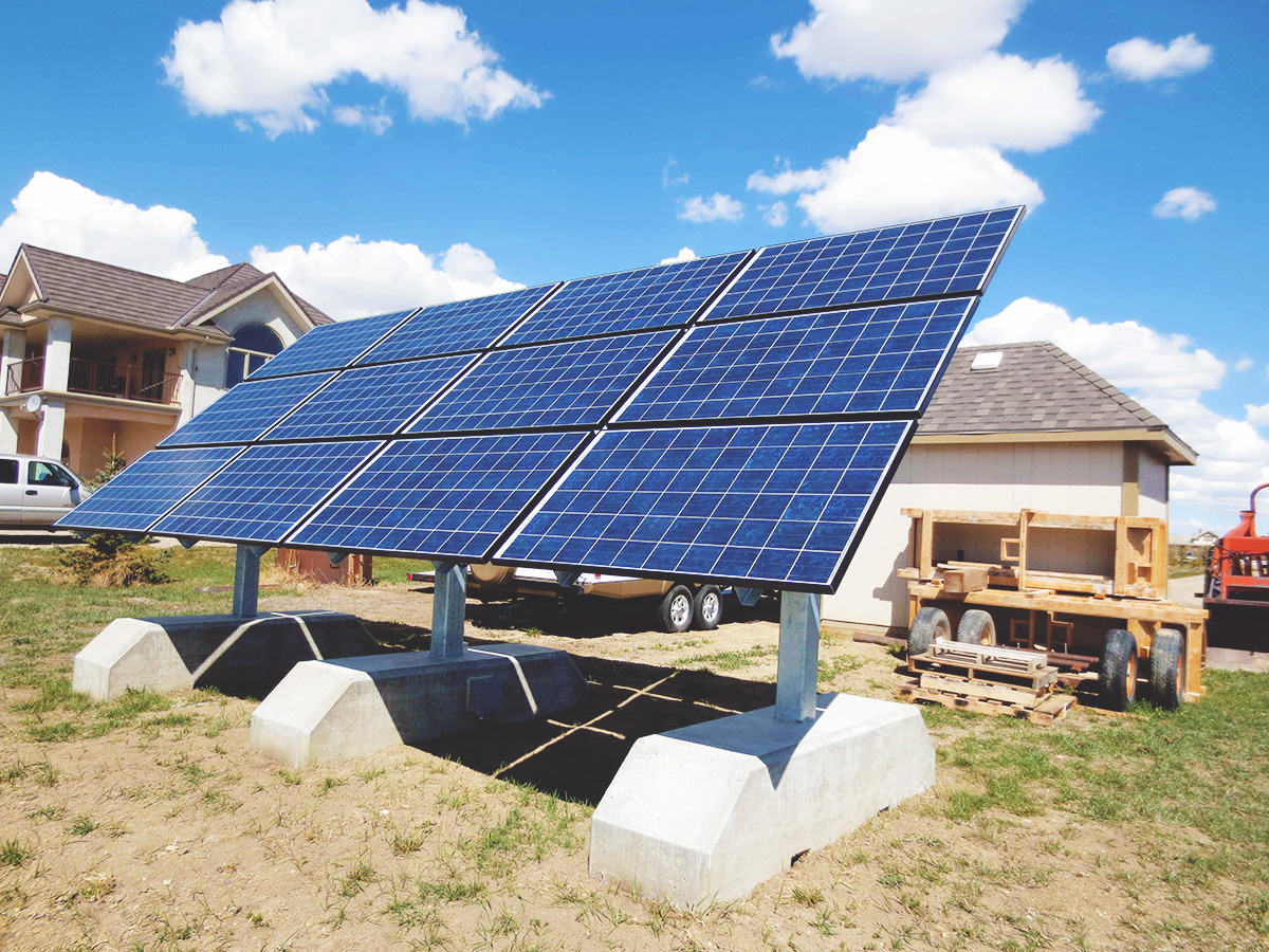 An example solar panel rig. This would be a similar size to one needed to power a Litecoin rig