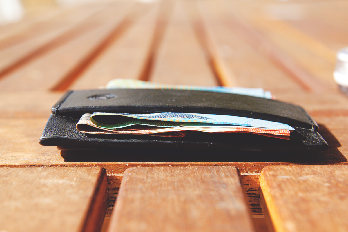 Wallet loaded up with some bills. No pineapples though.