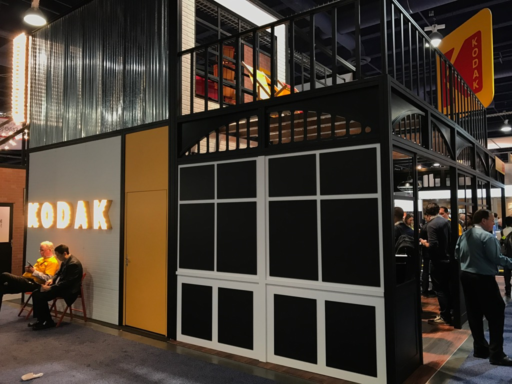 Kodak had a giant booth that was getting some attention. It seems they've come back from the brink of death