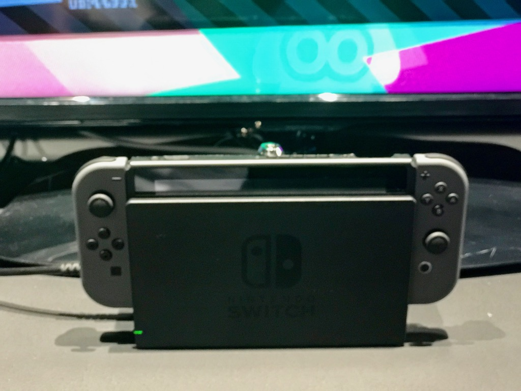 Nintendo Switch docked