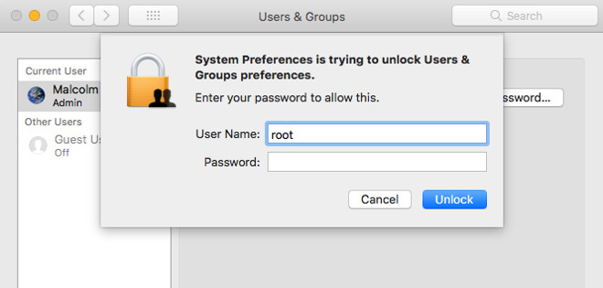 macOS High Sierra has a giant, gaping, security flaw that even your Grandpa could do