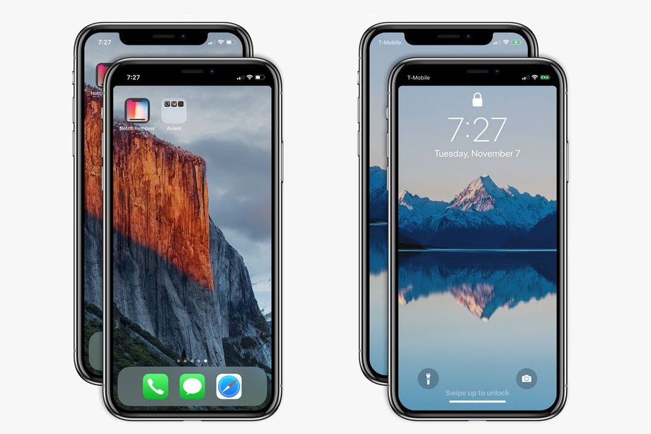 """Apple somehow approves A$1.49 """"Notch Remover"""" app for the iPhone X"""