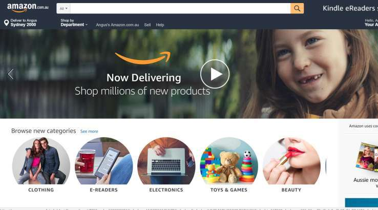 Amazon's Australian store finally makes an appearance