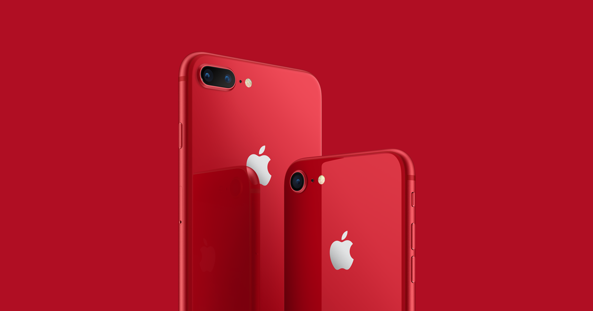 Apple announce new Product (RED) versions of the iPhone 8 & 8 Plus